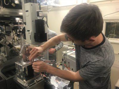 Установка для изучения процессов трения металлов с помощью синхротронного излучения