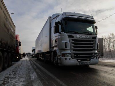 Для большегрузов организуют «транспортный коридор»