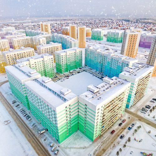 Дома микрорайона Просторный введены в эксплуатацию