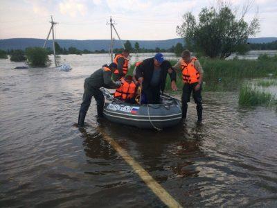 В регионе разворачивается пункт помощи пострадавшим при наводнении в Иркутской области