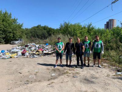 Заельцовский парк очищают от мусора