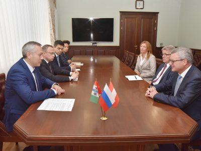 Австрийская сторона выразила заинтересованность в сотрудничестве с Новосибирской областью