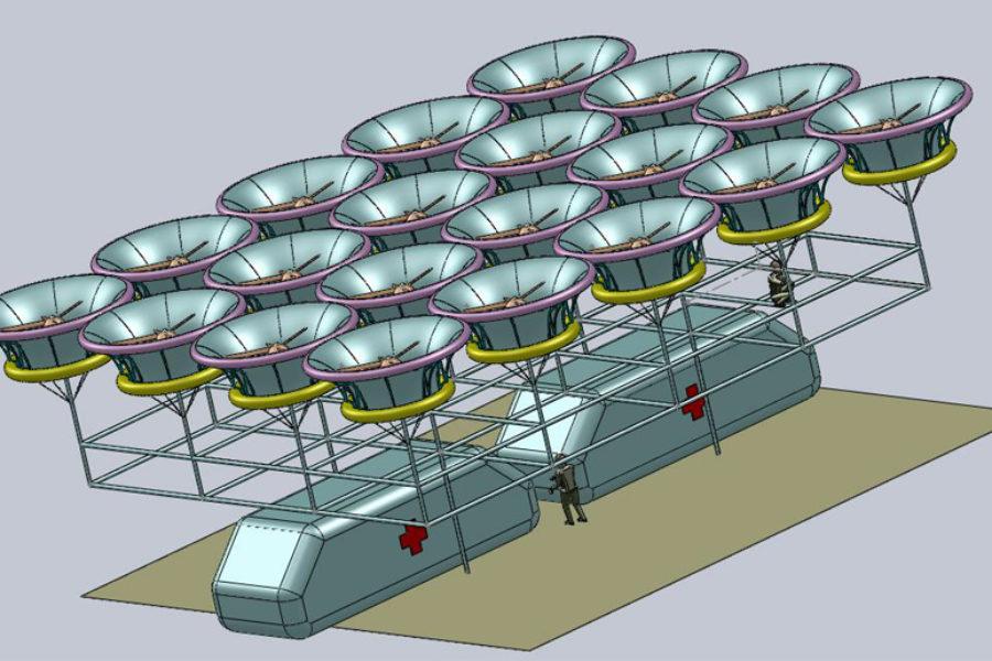 Ученые НГТУ НЭТИ работают над квадрокоптером грузоподъемностью 2 тонны