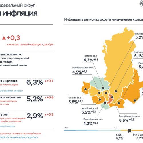 В январе инфляция в Новосибирской области замедлилась